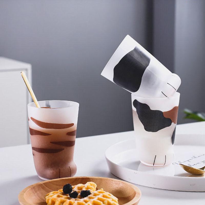 1X-Creative-Cute-Cat-Paws-Glass-Tiger-Paws-Mug-Office-Coffee-Mug-Tumbler-Pe5O1 thumbnail 5