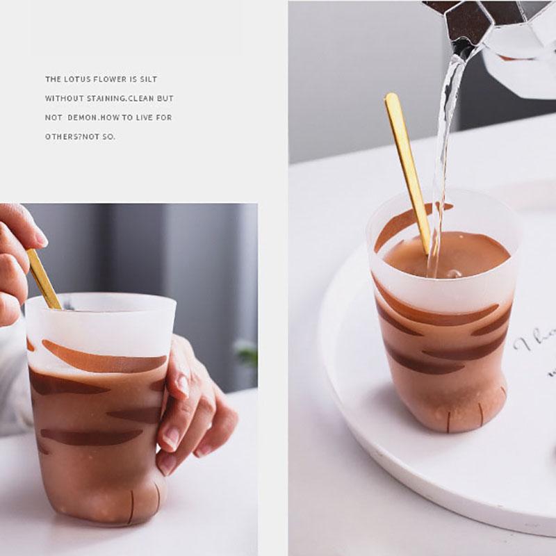 1X-Creative-Cute-Cat-Paws-Glass-Tiger-Paws-Mug-Office-Coffee-Mug-Tumbler-Pe5O1 thumbnail 6