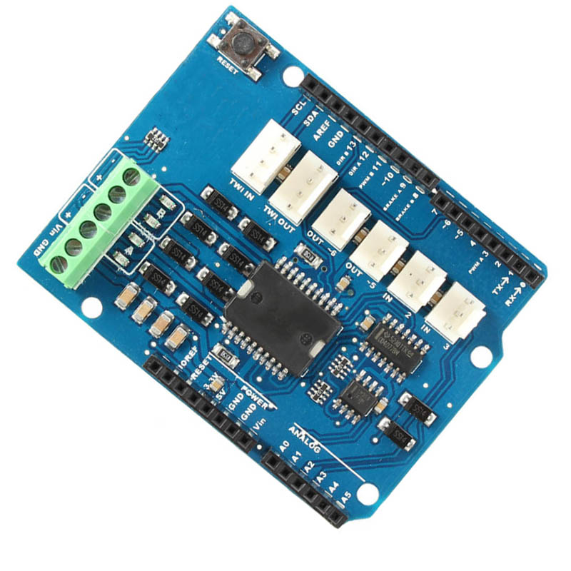 SODIAL L298N L298P 4A Dual Channel Motor Driver Module Motor Shield R3 for Arduino 5V ~ 12V Free Running Stop and Brake Function