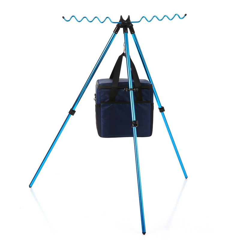 Portable-Telescopic-Adjustable-Fishing-Rods-Tripod-Stand-Aluminum-Alloy-Fish-8R3 thumbnail 4