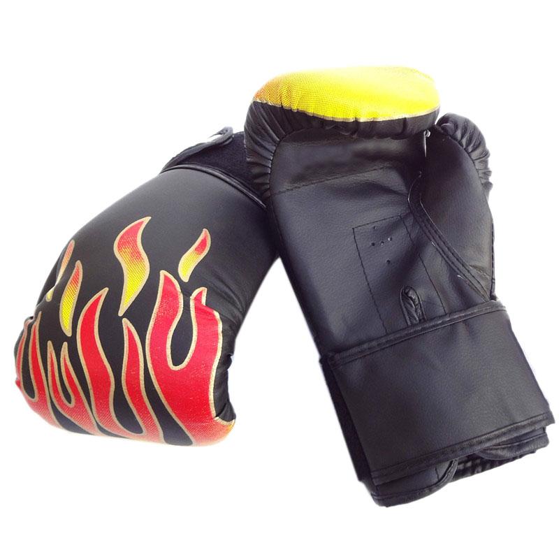 2pcs  PU Leather SKL Half Finger Boxing Gloves Sanda Fighting Sandbag Gloves US