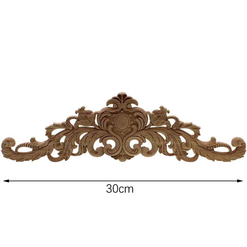 Sculpture-en-bois-naturel-Appliques-pour-meubles-armoire-non-peinte-en-bois-moules-7N3 miniature 4