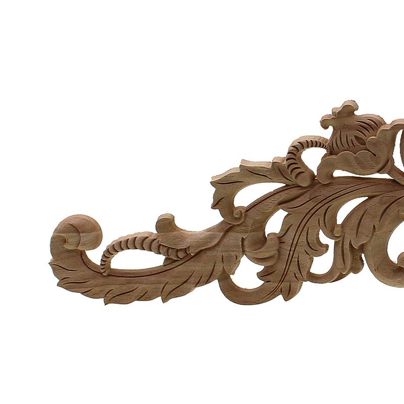 Sculpture-en-bois-naturel-Appliques-pour-meubles-armoire-non-peinte-en-bois-moules-7N3 miniature 5