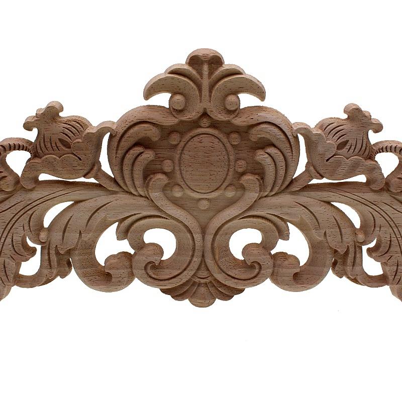 Sculpture-en-bois-naturel-Appliques-pour-meubles-armoire-non-peinte-en-bois-moules-7N3 miniature 6