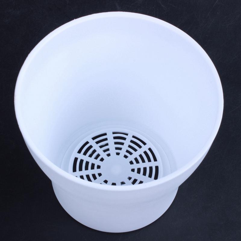Plastic-Blumentopf-Pflanzgefaess-Mit-Untertassenablage-Rund-Hochglanz-Home-Ga-P6P3 Indexbild 6