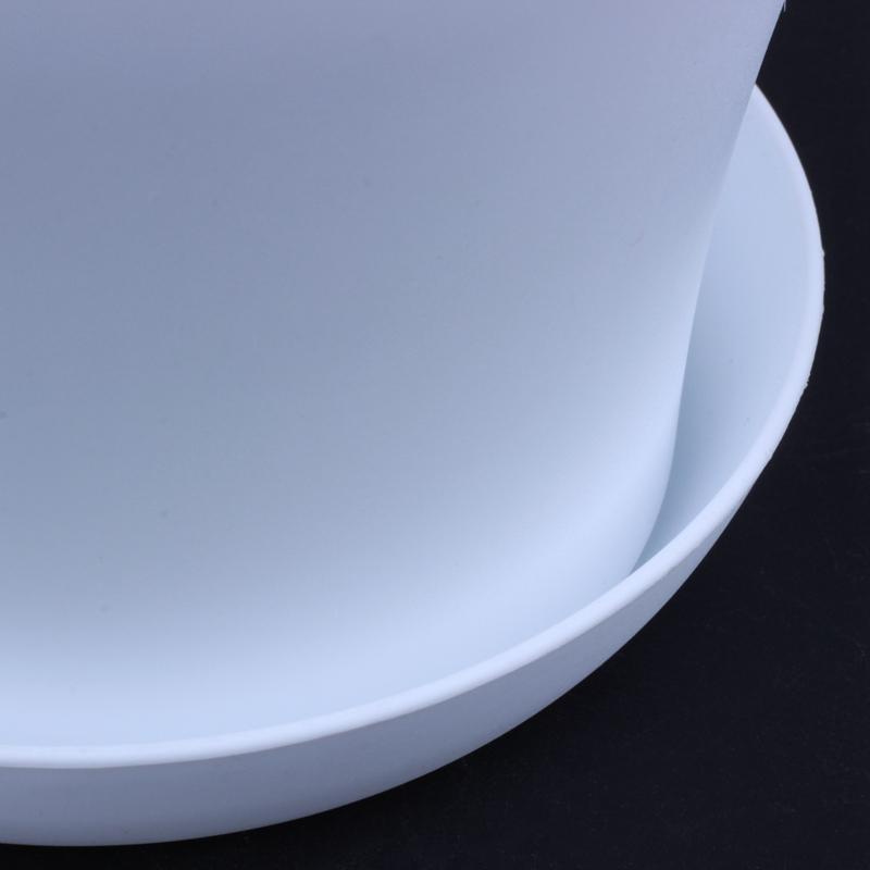 Plastic-Blumentopf-Pflanzgefaess-Mit-Untertassenablage-Rund-Hochglanz-Home-Ga-P6P3 Indexbild 9