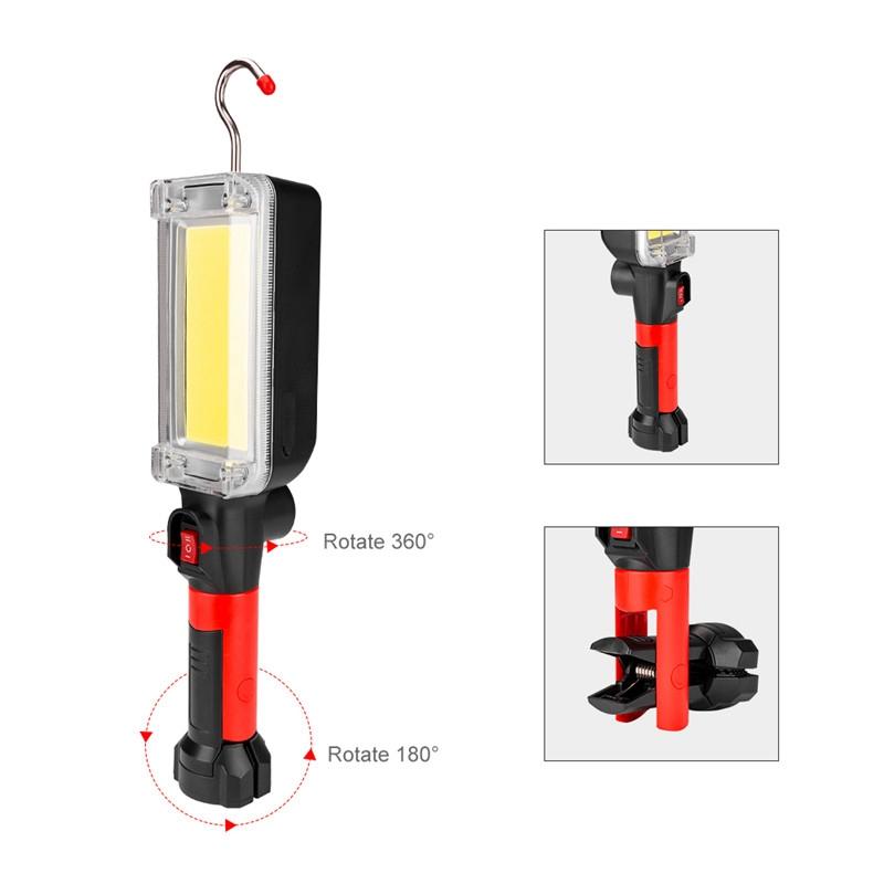 USB-Charging-Mode-Camping-Light-Portable-Lantern-Flashlight-Power-Led-COB-M-X2C4 thumbnail 2