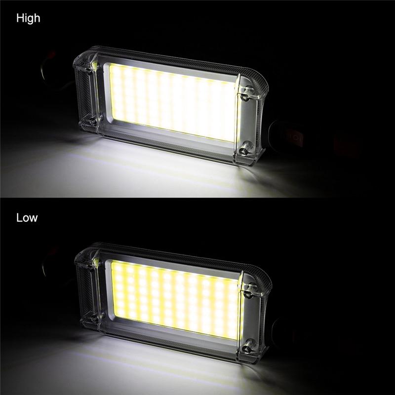 USB-Charging-Mode-Camping-Light-Portable-Lantern-Flashlight-Power-Led-COB-M-X2C4 thumbnail 6