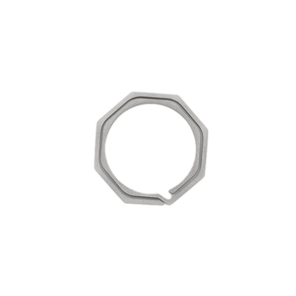Keyring-Octagon-Titanium-Alloy-Tc4-Ti-Hook-Outdoor-Clip-Kit-Buckle-KeychainI8Y8 thumbnail 3