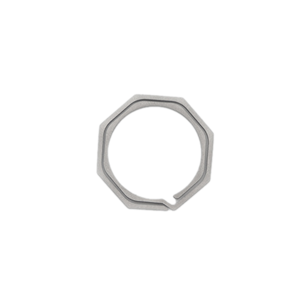Keyring-Octagon-Titanium-Alloy-Tc4-Ti-Hook-Outdoor-Clip-Kit-Buckle-KeychainI8Y8 thumbnail 10