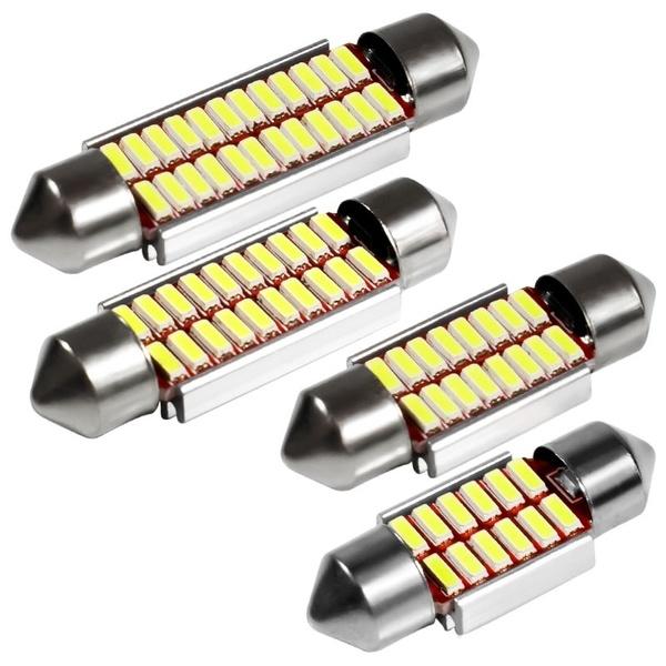 C5W-C10W-4014-24Smd-Bombillas-de-Adorno-Para-Luces-de-Matricula-Lampara-Int-X9S4 miniatura 4