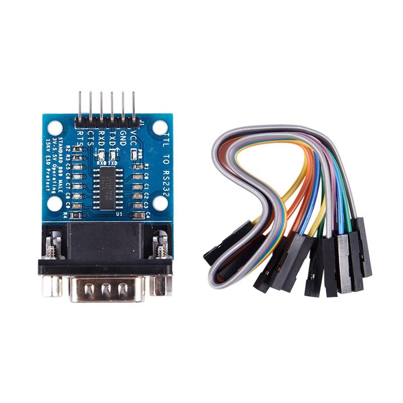 RS232-SP3232-TTL-Vers-Port-SeRie-Male-TTL-Vers-Module-SeRie-de-Conversion-d-W4Z2