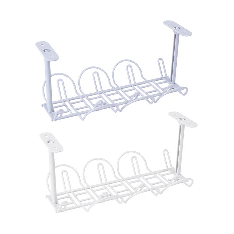 1Pc-Socket-Storage-Rack-Plug-Wire-Organizer-Holder-Table-Bottom-Power-CableH6W8 thumbnail 3