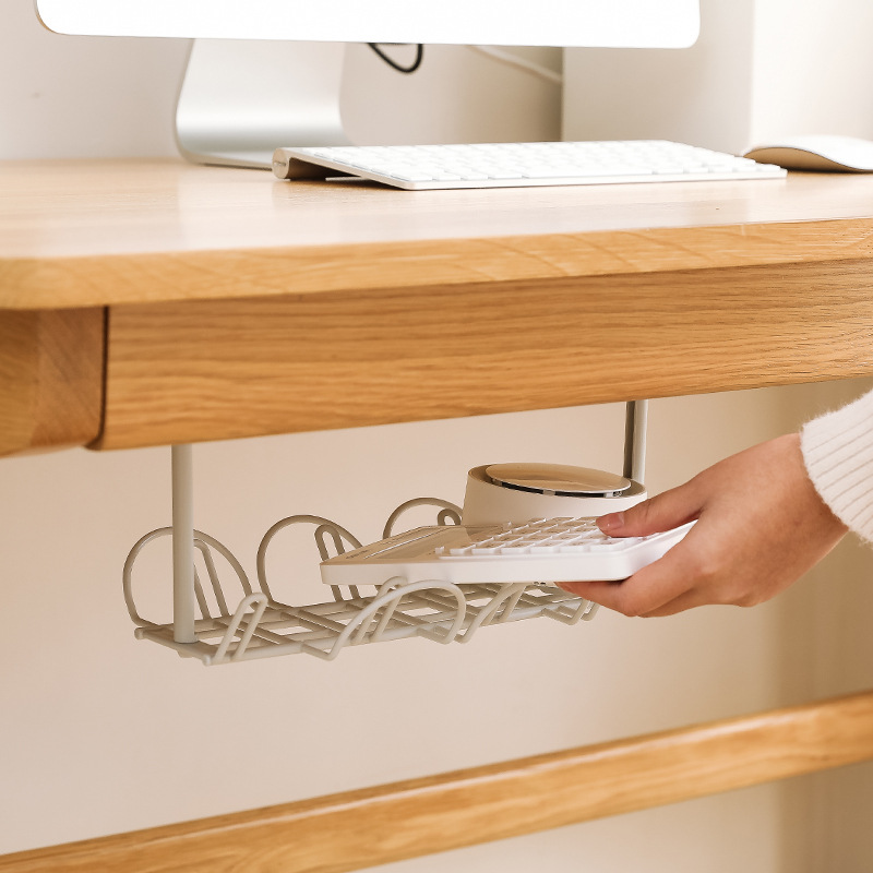1Pc-Socket-Storage-Rack-Plug-Wire-Organizer-Holder-Table-Bottom-Power-CableH6W8 thumbnail 7