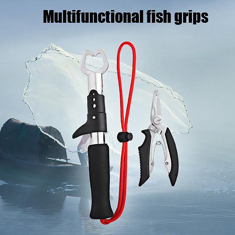 1X-Fisch-Griff-Zange-Fisch-Koeder-Zange-Entfernen-Haken-Angel-Geraet-Fisch-GrM1S7 Indexbild 9