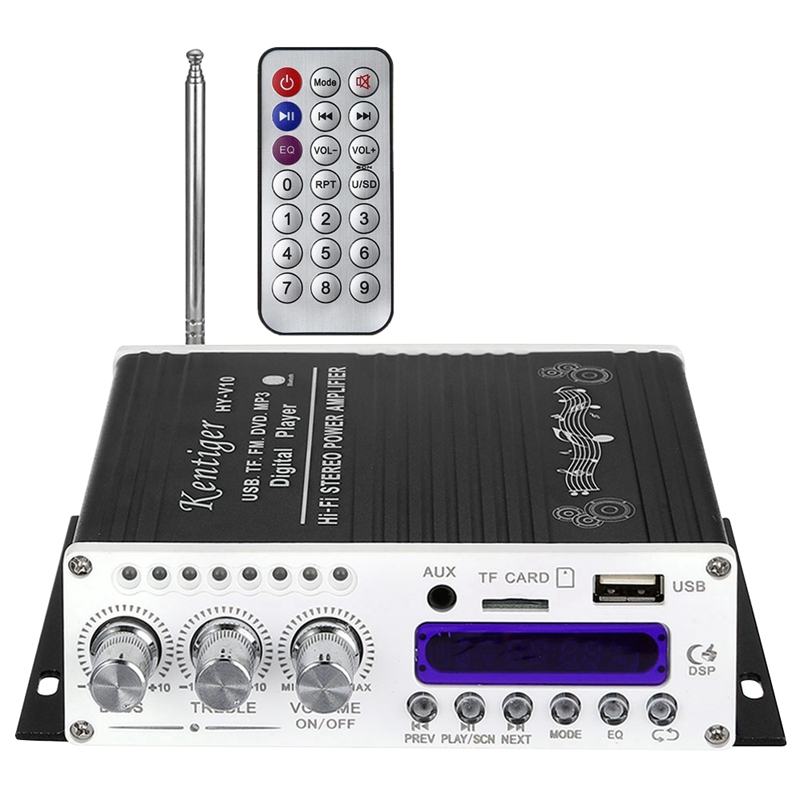 Details about Kentiger V10 Amplifier Bluetooth Hi-Fi Class-Ab Stereo Super  Bass Audio Pow Y8R1