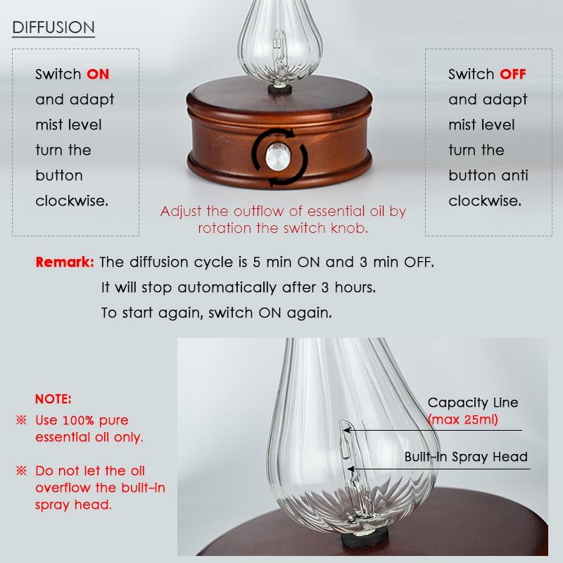 Waterless-Essential-Oil-Diffuser-Wood-And-Glass-Aromatherapy-Diffuser-Aroma-Difu thumbnail 5