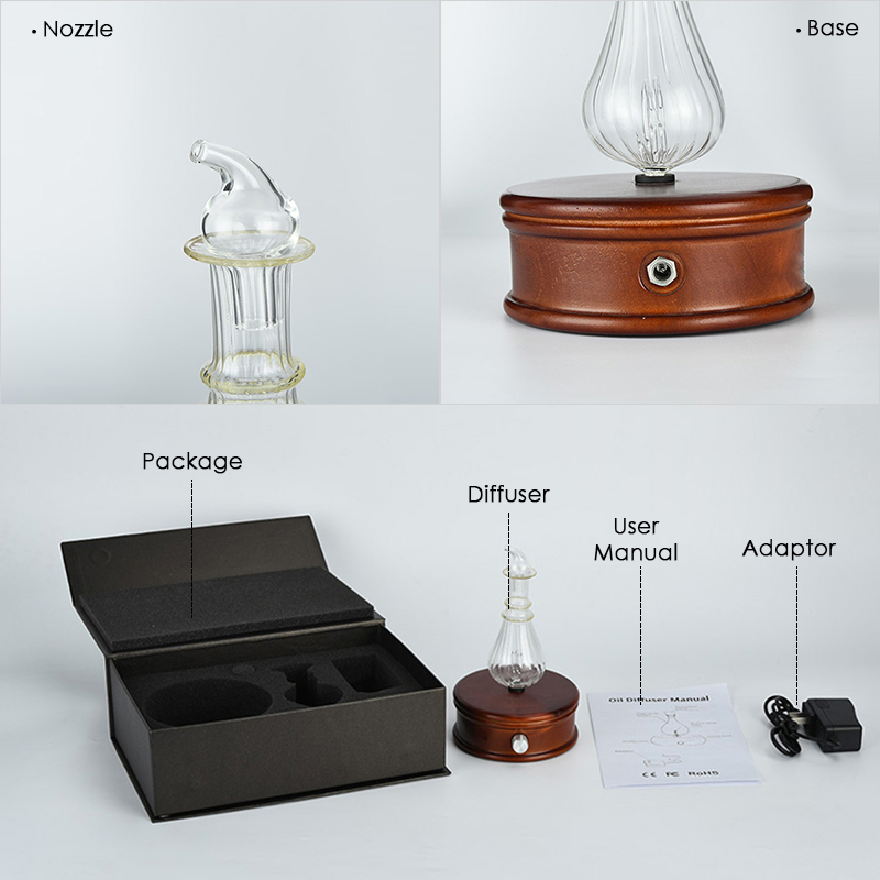 Waterless-Essential-Oil-Diffuser-Wood-And-Glass-Aromatherapy-Diffuser-Aroma-Difu thumbnail 6