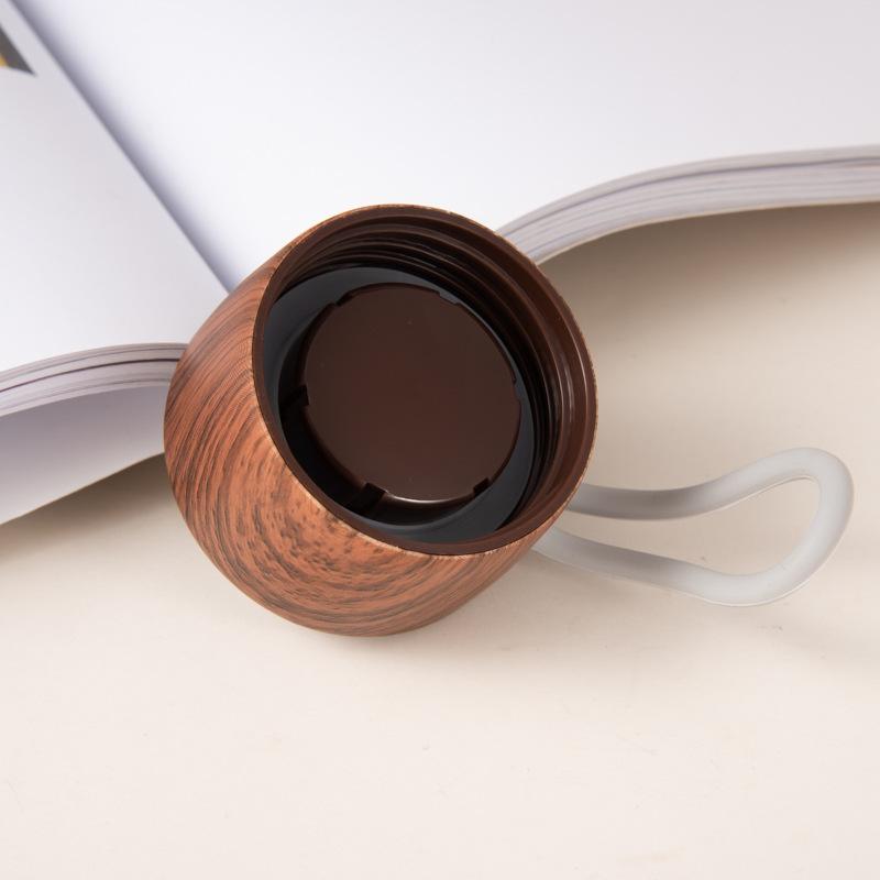 Edelstahl-Holz-Abdeckung-Tasse-Heisse-Tasse-Grosse-Kapazitaet-Vakuum-Saugnapf-Y9N5 Indexbild 8