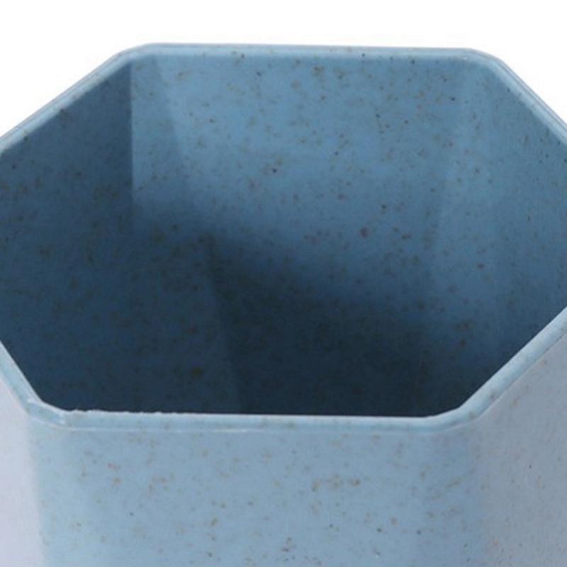 Tasse-En-Plastique-De-Paille-Verte-Style-Nordique-Tasse-De-Support-De-Bross-P1F3 miniature 3