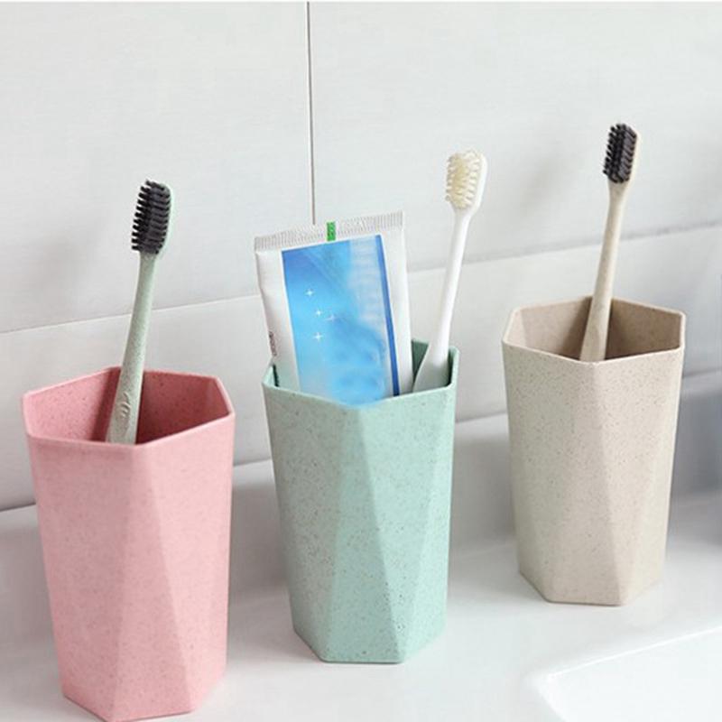 Tasse-En-Plastique-De-Paille-Verte-Style-Nordique-Tasse-De-Support-De-Bross-P1F3 miniature 11