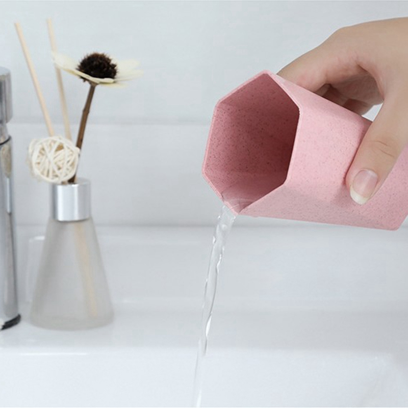 Tasse-En-Plastique-De-Paille-Verte-Style-Nordique-Tasse-De-Support-De-Bross-P1F3 miniature 12