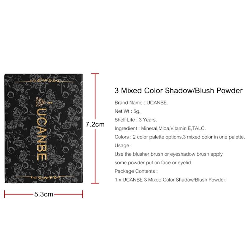 Ucanbe-Mineral-Blush-Make-Up-Palette-Face-Cheek-Blusher-Shading-Shadow-Powde-2O9 thumbnail 8