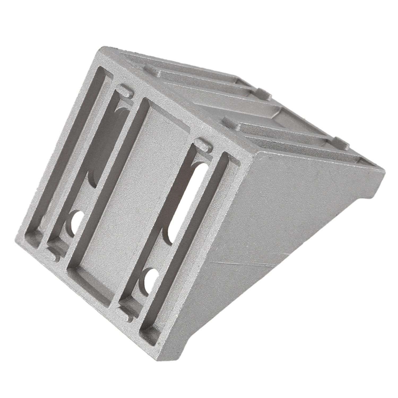 80mmx80mm 8 Holes 90 Degree Corner Brace Angle Bracket Silver Tone R9X9