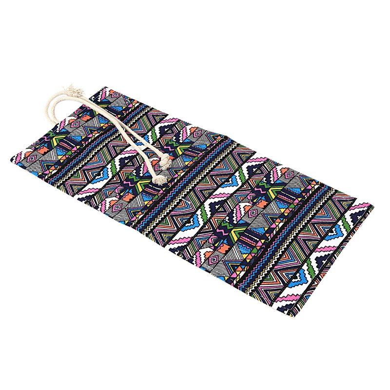 School-Canvas-Roll-Pouch-Pen-Storage-pecncil-box-National-style-B4Q4 miniatuur 4
