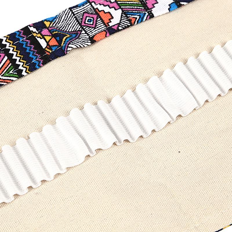 School-Canvas-Roll-Pouch-Pen-Caja-De-Lapices-De-Almacenamiento-De-Agujeros-J5Y2 miniatura 7