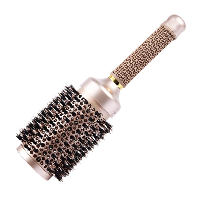 Brosse-A-Cheveux-Ronde-avec-Poils-de-Sanglier-Simules-Pour-Le-Sechage-Des-Z6H9 miniature 7