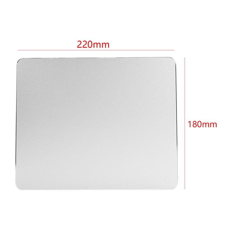 Voground-Tapis-De-Souris-En-Aluminium-Argente-Dur-Double-Face-Ultra-Mince-De-j1y miniature 9