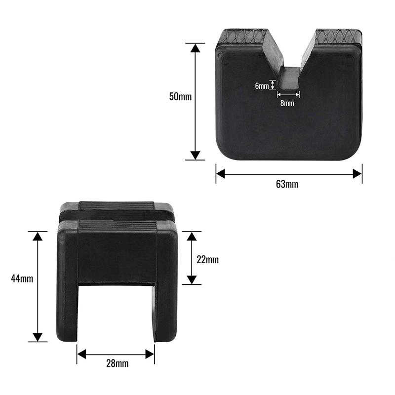 1X-Bube-Pad-Adapter-Fuer-Bube-Stand-2-3-Tonnen-Universal-Gummi-Schlitz-Rahme-E8E8 Indexbild 3
