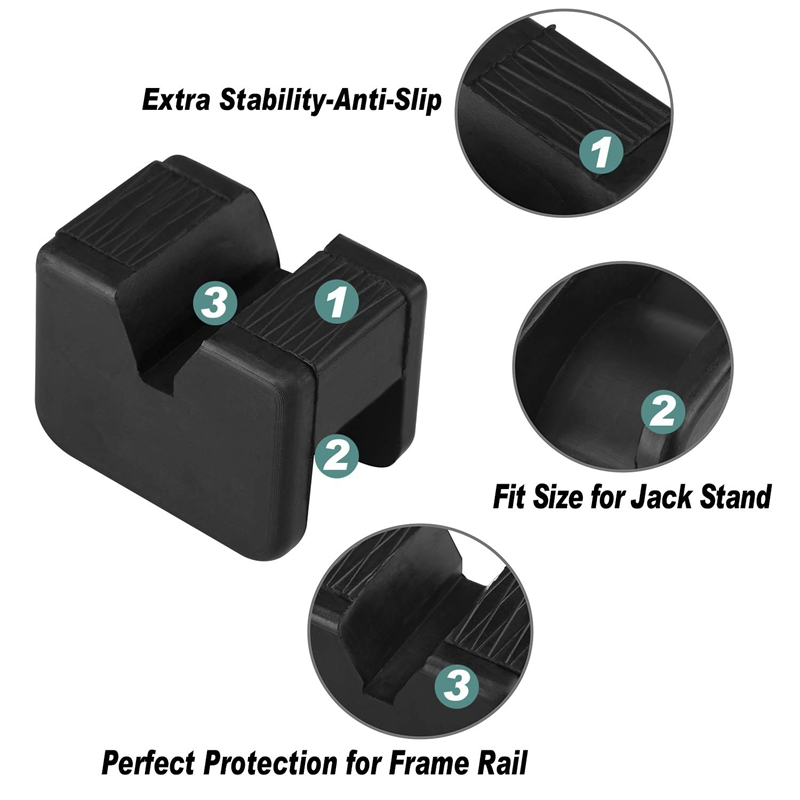 1X-Bube-Pad-Adapter-Fuer-Bube-Stand-2-3-Tonnen-Universal-Gummi-Schlitz-Rahme-E8E8 Indexbild 4