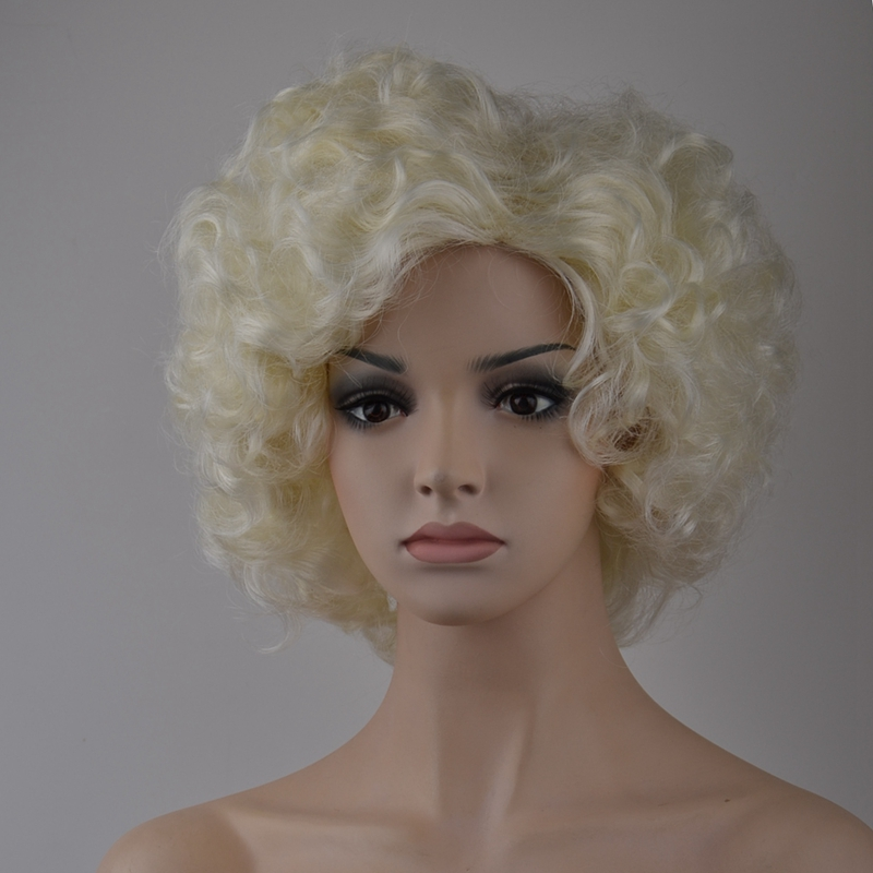 7-8-Inch-Synthetic-Wigs-High-Temperature-Silk-Heat-Short-Short-Roll-Lace-Wig-Afr thumbnail 3