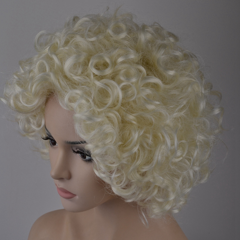 7-8-Inch-Synthetic-Wigs-High-Temperature-Silk-Heat-Short-Short-Roll-Lace-Wig-Afr thumbnail 5