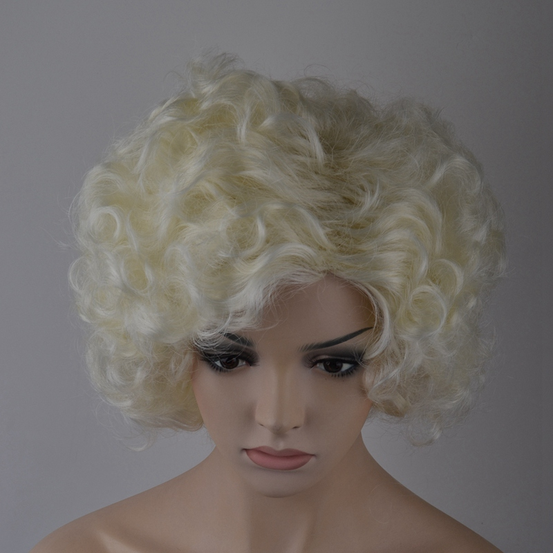 7-8-Inch-Synthetic-Wigs-High-Temperature-Silk-Heat-Short-Short-Roll-Lace-Wig-Afr thumbnail 6