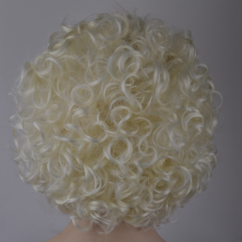 7-8-Inch-Synthetic-Wigs-High-Temperature-Silk-Heat-Short-Short-Roll-Lace-Wig-Afr thumbnail 9