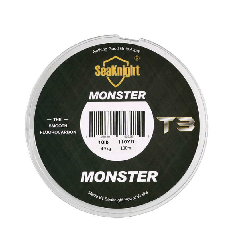 5X-Seaknight-T3-Fluorocarbon-Fishing-Line-100M-Smooth-Monofilament-Leader-L-Z1Z4 thumbnail 4