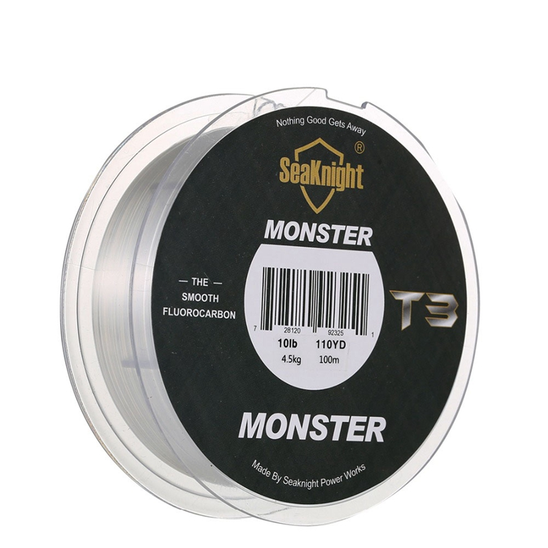 5X-Seaknight-T3-Fluorocarbon-Fishing-Line-100M-Smooth-Monofilament-Leader-L-Z1Z4 thumbnail 5