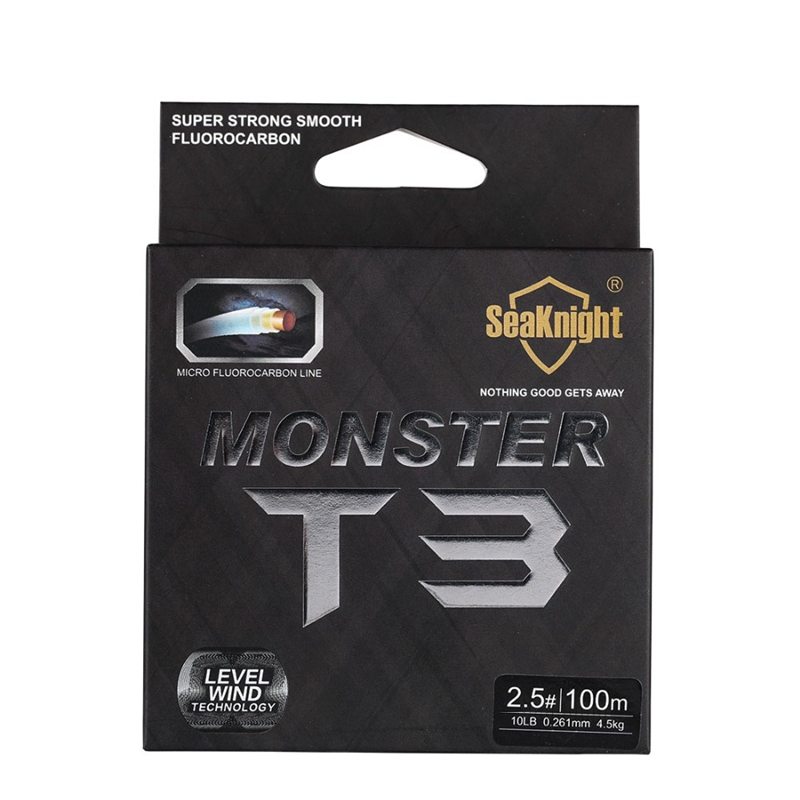 5X-Seaknight-T3-Fluorocarbon-Fishing-Line-100M-Smooth-Monofilament-Leader-L-Z1Z4 thumbnail 6