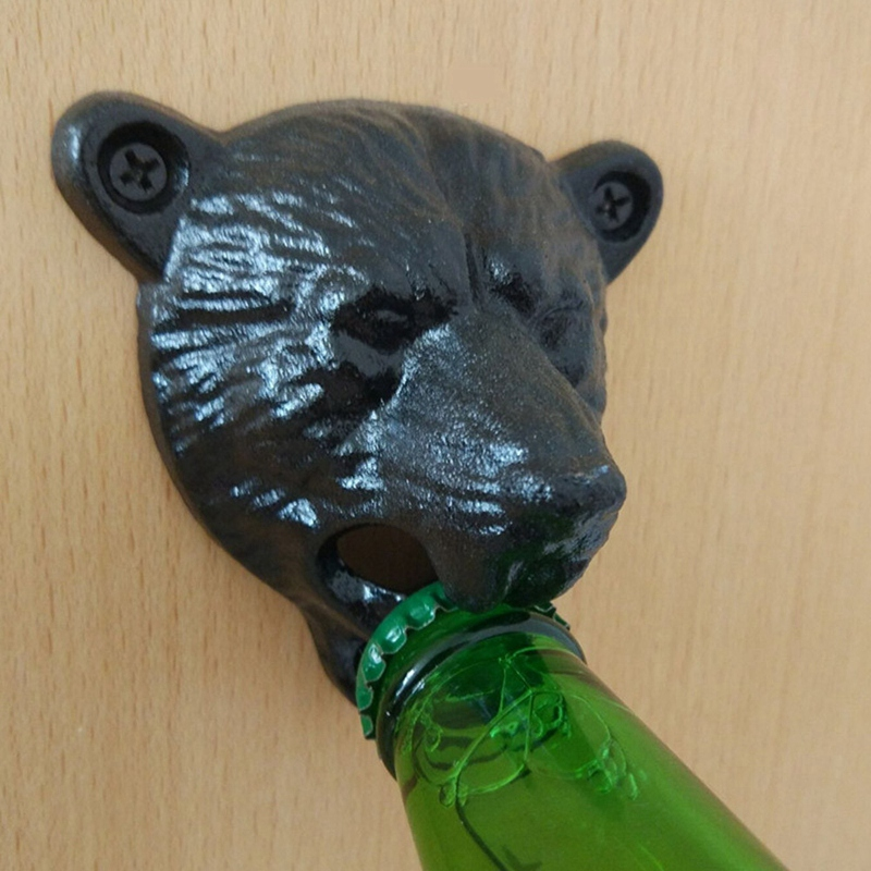 kikkerland BIG BEAR HUG BOTTLE OPENER gray grey pop open BO15 grizzly