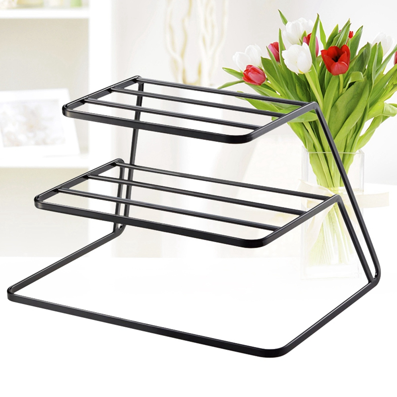 2-Tier-Dish-Rack-Stainless-Steel-Kitchen-Dish-Drainer-Cup-And-Dish-OrganizeV6W1 thumbnail 3