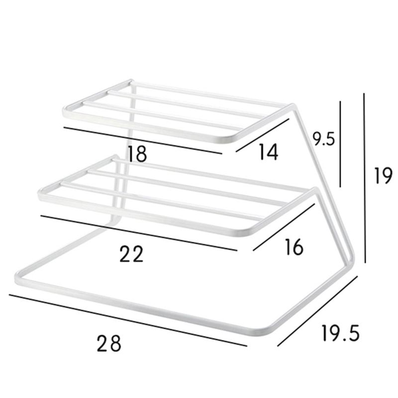 2-Tier-Dish-Rack-Stainless-Steel-Kitchen-Dish-Drainer-Cup-And-Dish-OrganizeV6W1 thumbnail 7