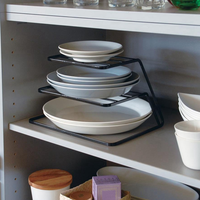 2-Tier-Dish-Rack-Stainless-Steel-Kitchen-Dish-Drainer-Cup-And-Dish-OrganizeV6W1 thumbnail 11