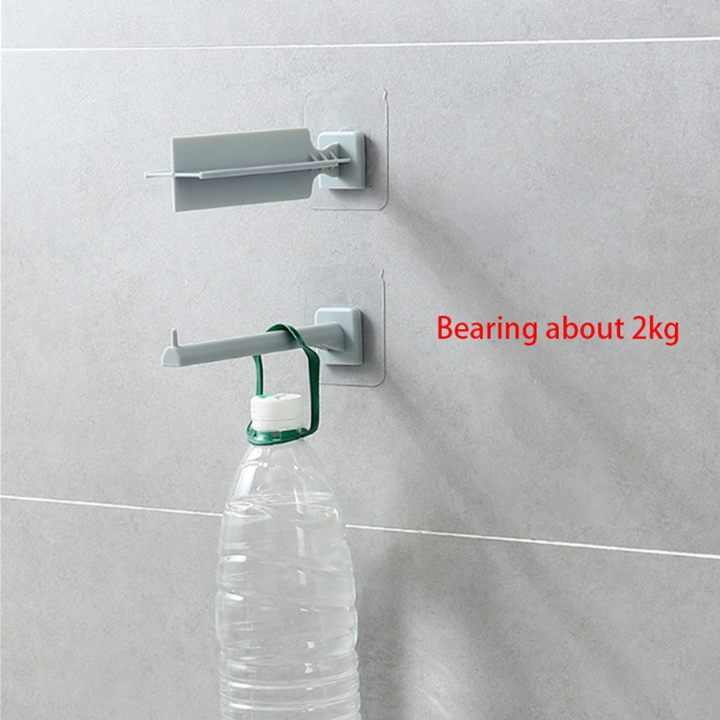 Household-Punch-Free-Hook-Clothespin-Finishing-Rack-Hanger-Rack-Storage-Bag-K2C9 thumbnail 5