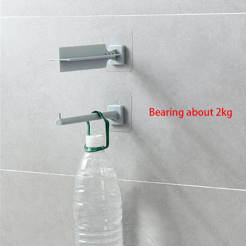 Household-Punch-Free-Hook-Clothespin-Finishing-Rack-Hanger-Rack-Storage-Bag-K2C9 thumbnail 11