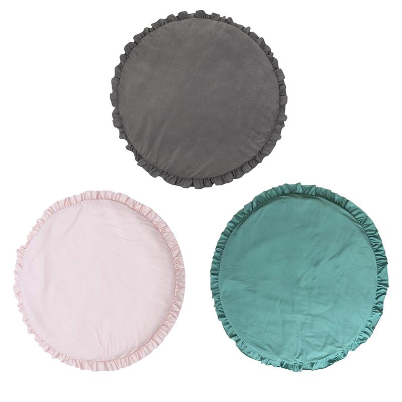 Nouveau-Ne-Bebe-Rembourre-Tapis-De-Jeu-Doux-Coton-Ramper-Tapis-Tapis-De-Jeu-K3Y2 miniature 7