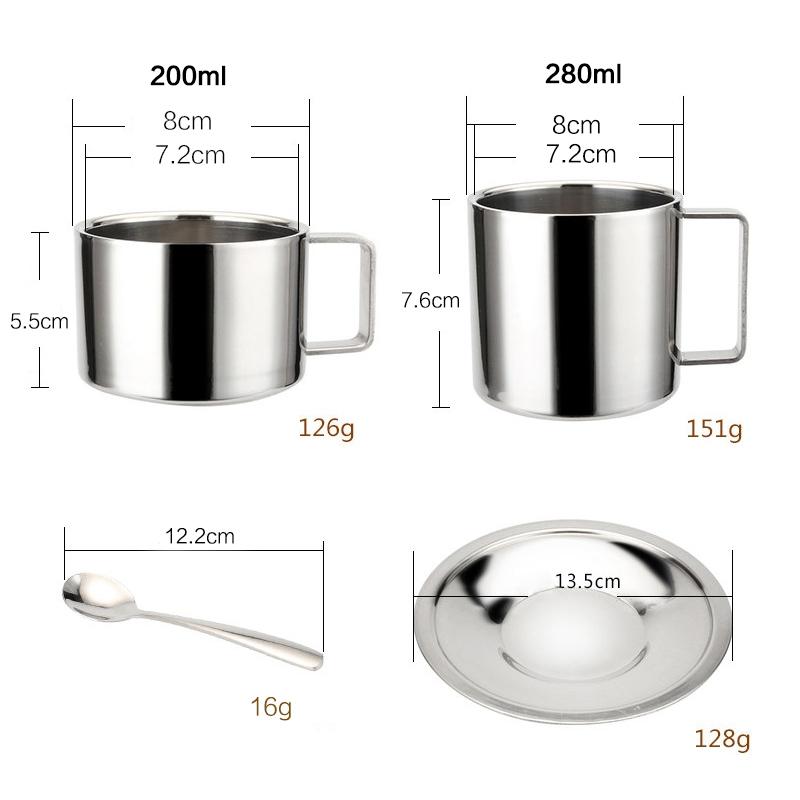 2X-Stainless-Steel-Tea-Coffee-Mug-Cups-Double-Wall-Insulated-Coffee-Tea-Cup9H2 thumbnail 4