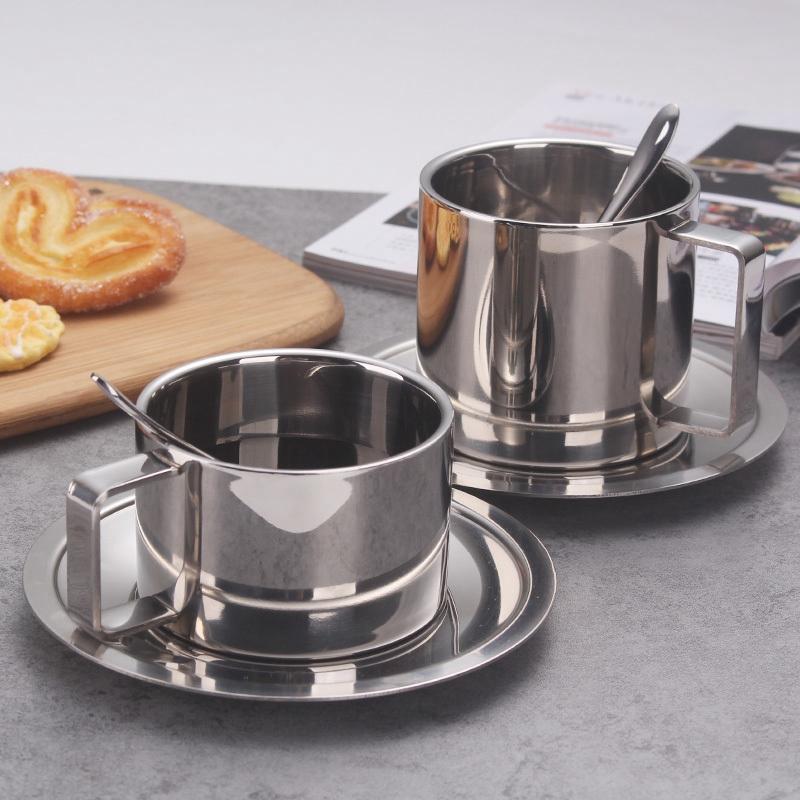 2X-Stainless-Steel-Tea-Coffee-Mug-Cups-Double-Wall-Insulated-Coffee-Tea-Cup9H2 thumbnail 5